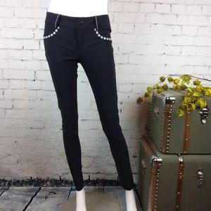 GUC Alp-n-Rock embroidered moto skinny pants